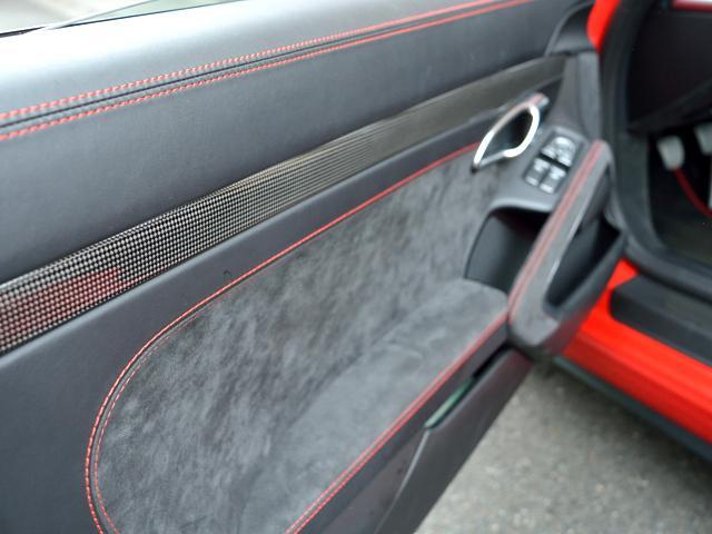 911GT3 6MT Fリフト レザーP カーボンP Clubsport package PTV Red 12 o'clock スポーツクロノ フルバケットシート ミラーカーボン ブラックデザインLEDヘッドライト(29枚目)