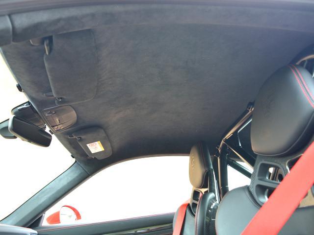 911GT3 6MT Fリフト レザーP カーボンP Clubsport package PTV Red 12 o'clock スポーツクロノ フルバケットシート ミラーカーボン ブラックデザインLEDヘッドライト(48枚目)