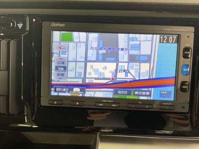 G・ターボパッケージ 2年保証 黒内装 地デジ VSA クルコンHID パドルシフト AUTOライト 革巻ステアリング(14枚目)