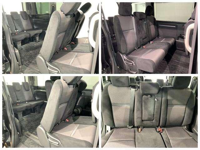 2列目ベンチシートです。席に隔たりがないので、小さなお子様を乗せる場合にも距離が近く感じるので安心感があります。