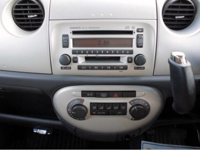 純正CDデッキ&便利なオートエアコン!オプションですがナビも取り付け可能です!