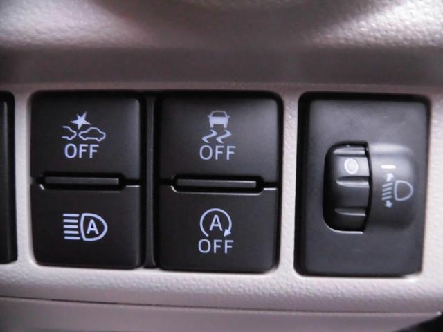 衝突回避軽減ブレーキ(車線逸脱警報)・横滑り防止・オートハイビーム・アイドリングストップ機能切替スイッチ