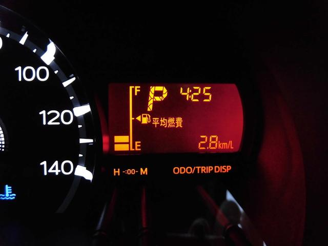 マルチインフォメーションディスプレイ(平均燃費表示)。ECO運転で燃費向上を目指しましょう