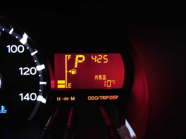 マルチインフォメーションディスプレイ(外気温表示)。冬に気温が0度以下になると・・・路面の凍結に注意が必要です