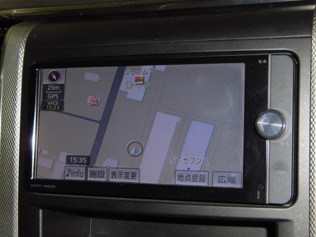 X 4WD フルセグ メモリーナビ DVD再生 ミュージックプレイヤー接続可 バックカメラ ETC 両側電動スライド HIDヘッドライト 乗車定員7人 3列シート アイドリングストップ(9枚目)