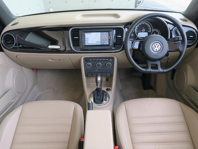 フォルクスワーゲン VW ザ・ビートル・カブリオレ ベースグレード 禁煙車 純ナビ HID 本革 純正16AW