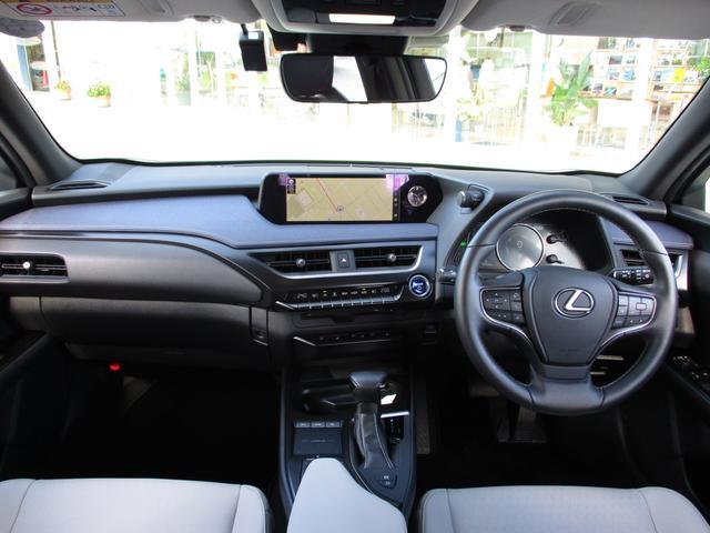 UX250h バージョンC 禁煙車 18インチアルミホイール ルーフレール ドライブレコーダーフロアマットタイプA サイドバイザー LEDヘッドライト 前席パワーシート  Ltexシート シートヒーター(3枚目)