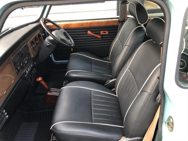 クーパー 4速AT 色替全塗装済 ルーフライナー張替済 前後Hi-Loコイルスプリング 前後CABANA製シートカバー ウッドコンビステアリング 1年保証(25枚目)
