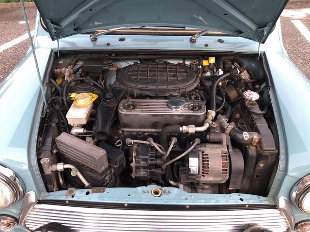 クーパー 4速AT 色替全塗装済 ルーフライナー張替済 前後Hi-Loコイルスプリング 前後CABANA製シートカバー ウッドコンビステアリング 1年保証(40枚目)