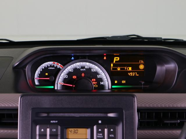 平均燃費・瞬間燃費なども表示可能な多機能メーターです。