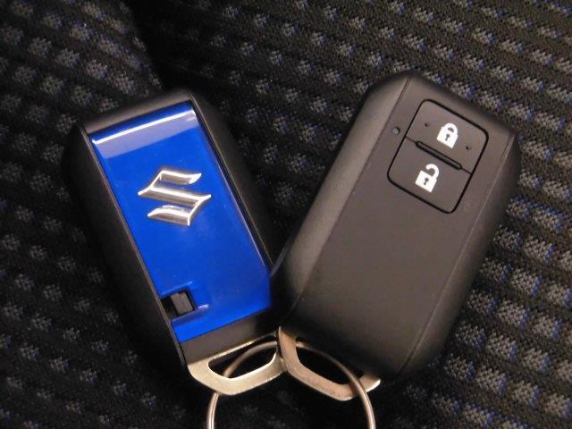 スマートキーになります。ズボンのポケットの中やカバンの中など、身近にこれを持っていれば、ドアロックの開閉やエンジンのスタートができます。わざわざキーを取り出す必要がないので便利です。