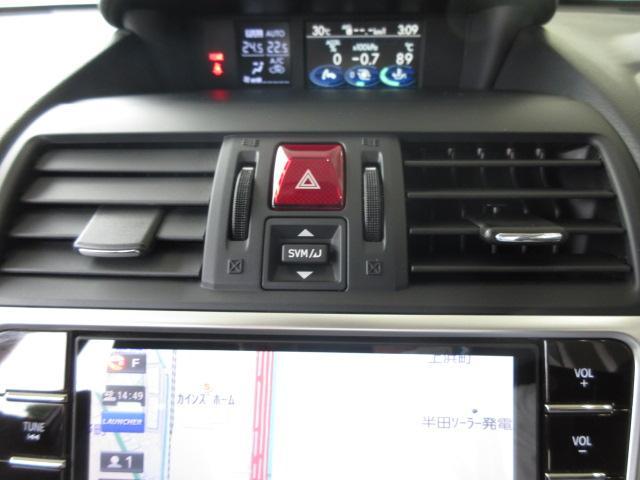 マルチファンクションディスプレイの操作スイッチ。カメラへの切り替えスイッチもこちらです。
