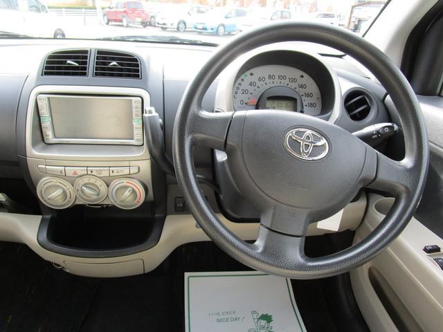 トヨタ パッソ G DVDナビ キーレス 1年間走行無制限保証付き CD