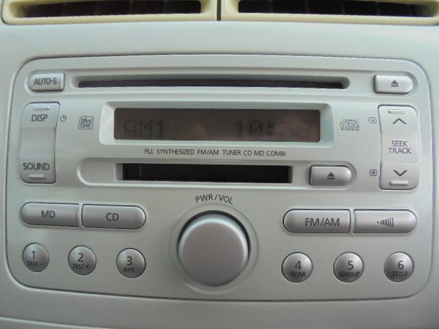 MD/CDチューナー付きです。いい音楽でドライブを満喫して下さい。