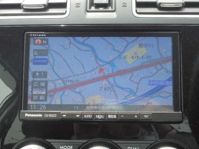 スバル純正パナソニックCN-RS02D装着。DVD再生Bluetoothも繋がります。