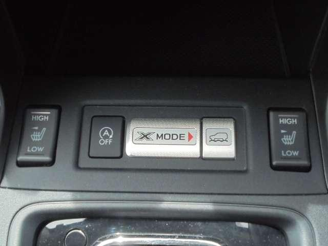 X-MODEとは、制御技術。独自の4WDシシンメトリカルAWDと路面や走行状況に応じて自動で前後にトルク配分をする「アクティブトルクスプリットAWD」と統一し、オールラウンドでさまざまな用途に対応する