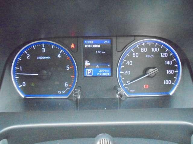 情報視認に優れたファインビジョンメーターに、車幅・距離表示機能付きバックモニター内蔵のメーター内ディスプレイを採用、半ドア警告や燃費情報等も表示できます。