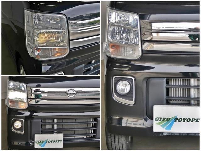 「ディスチャージヘッドライト」装備です★通常のハロゲンライトよりも色が白く、街灯のない夜間でもしっかり明るく見やすいです☆また「ハロゲン」よりも省エネで、バッテリーにも優しく経済的ですよ!!