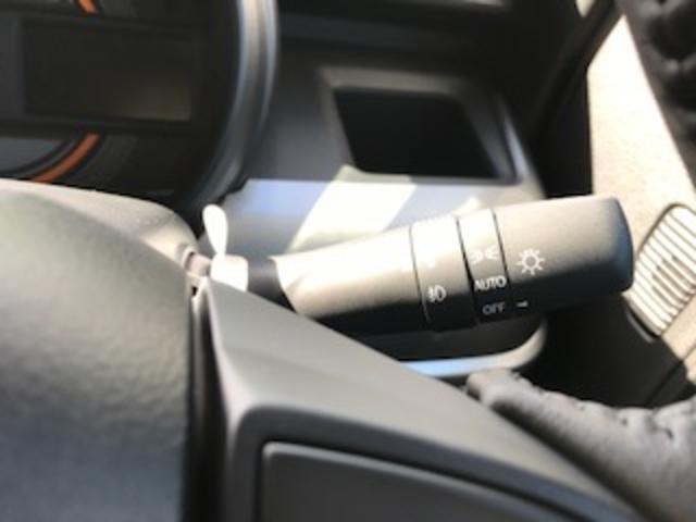 オートライト付き 周りが暗くなり始めると自動でヘッドライトが点灯します。