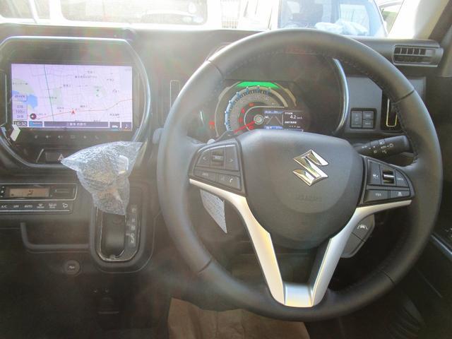 Jスタイルターボ 純正9インチメモリーナビ フルセグTV ETC 全方位カメラ LEDヘッドライト オートライト ターボ スズキセーフティーサポート 新車メーカー保証(5枚目)