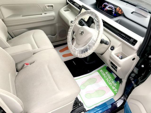 ハイブリッドFX アイストップ キーレススタート 前席シートヒーター ベンチシート 衝突安全ボディ イモビライザー オートエアコン エアバック ABS WエアB パワステ フルフラット PW(22枚目)
