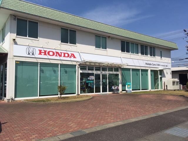 店舗前はお客様にご購入頂いたHonda車をご納車するスペースです。