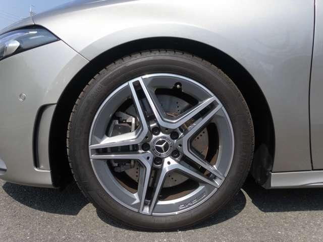 ◆18インチ AMG5ツインスポークアルミホイール◆Mercedes-Benzロゴ付 ブレーキキャリパー&ドリルドベンチレーテッドディスク