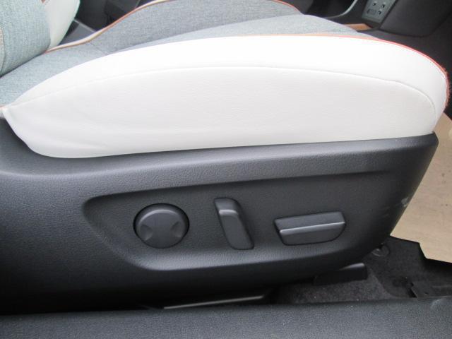 電動シートを採用。細かな調整ができ、シートポジションも2パターン記憶可能です。