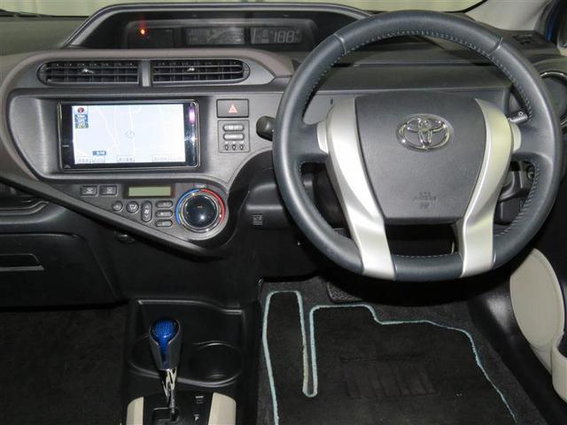 トヨタ アクア G 純正SDナビ バックモニター タイヤ4本新品付