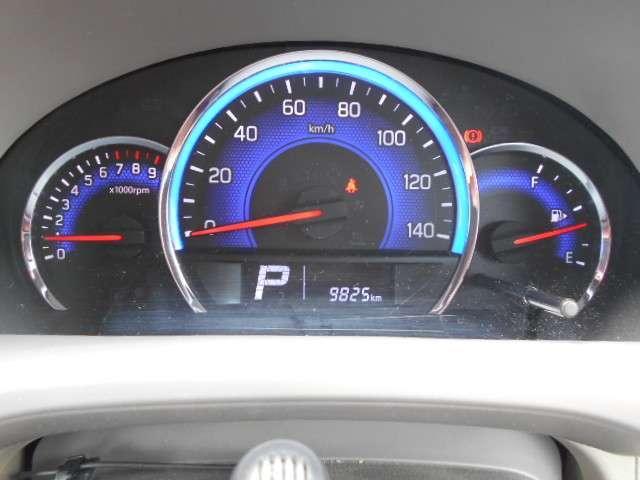 大きく見やすいメーターです。燃費を意識した丁寧な走りをサポートします。