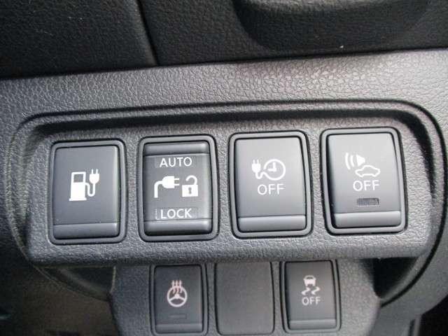 ◆◆◆充電関係のスイッチです。充電中のいたずら防止のロック機能もあります。