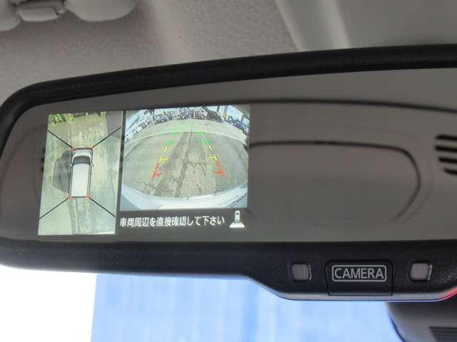 CMでおなじみのアラウンドビューモニターです。全方向の安全確認が容易です。