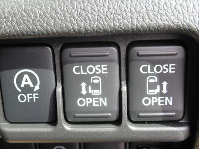 アイドリングストップスイッチ・両側オートスライドドアスイッチです。