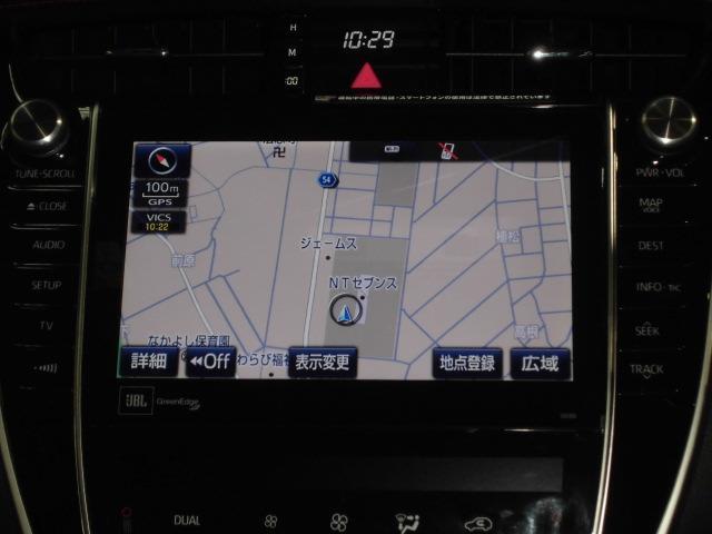 トヨタ ハリアー プログレスターボTSS地デジSDブルーレイ再生全周囲カメラ
