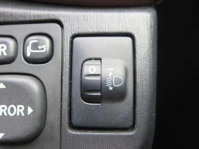 ◆ヘッドライトの光軸の上下調整のスイッチです、乗車人員や積載状況によってダイヤルを調整して下さい。