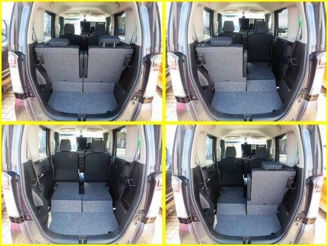 ◆間口の広いラゲッジスペ-ス荷物の出し入れが楽に出来て大変便利です、又リヤシートは分割になつていますので乗車人数や荷物の量によってアレンジして下さい。