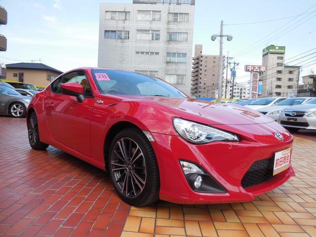 トヨタ 86 GTリミテッド 純正SDナビフルセグTV ハーフレザーシート