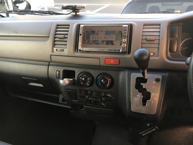 トヨタ ハイエースバン ロングDX HDDナビ ETC CD DVD 両側スライド