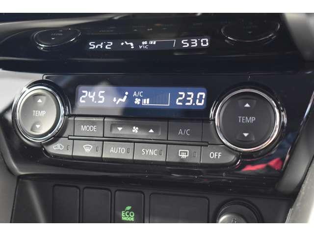 左右独立の温度設定のフルオートエアコンで快適室内に!