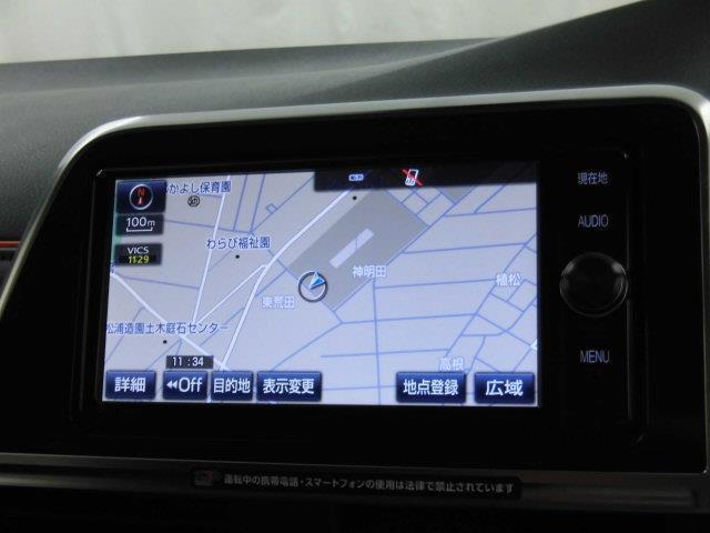 G フルセグ メモリーナビ DVD再生 ミュージックプレイヤー接続可 バックカメラ 衝突被害軽減システム ETC 両側電動スライド 乗車定員7人 3列シート アイドリングストップ(9枚目)