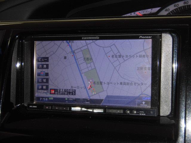 HDDナビにはフルセグチューナー内蔵でTVもキレイに視聴することができます。