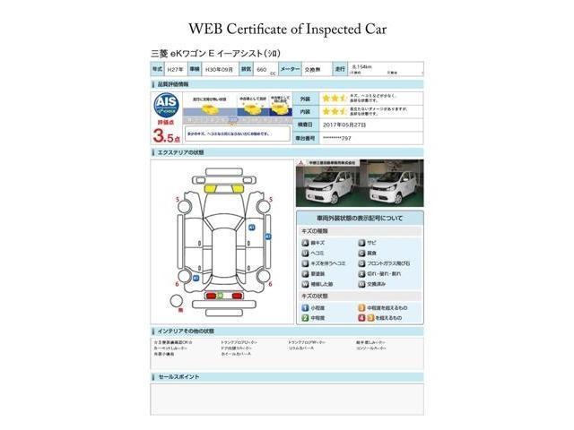 三菱 eKワゴン 660 E 衝突被害軽減ブレーキ リモコンキー