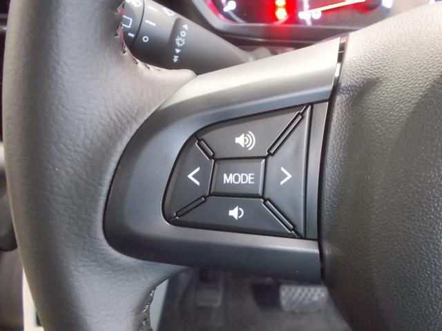 ハンドルには、オーディオスイッチが付いています!視点をそらすことなく、安全運転しながら操作が出来ます!