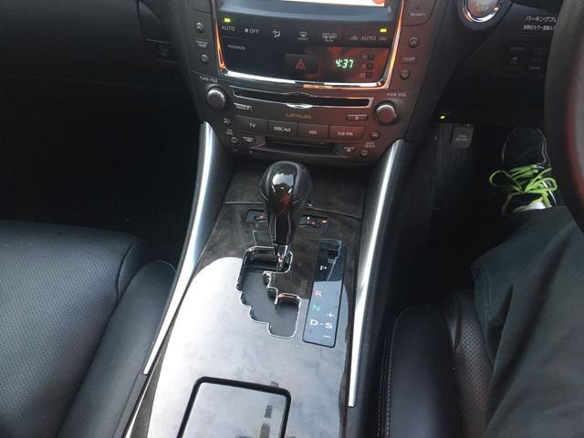 レクサス IS IS350バージョンL 黒革 フルセグHDDナビ サンルーフ