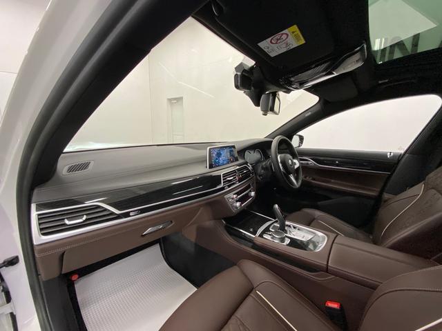 740d xDrive Mスポーツ 4WD ディーゼルターボ 茶革 サンルーフ 純正HDDナビ フルセグTV ETC 全周囲モニター 後席モニター リアタブレット型リモコン シートヒーター&クーラー 純正ドライブレコーダー パドルシフト(9枚目)