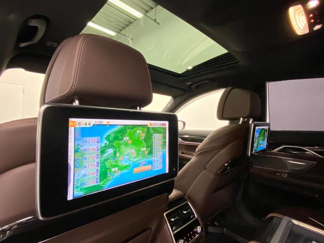 740d xDrive Mスポーツ 4WD ディーゼルターボ 茶革 サンルーフ 純正HDDナビ フルセグTV ETC 全周囲モニター 後席モニター リアタブレット型リモコン シートヒーター&クーラー 純正ドライブレコーダー パドルシフト(11枚目)