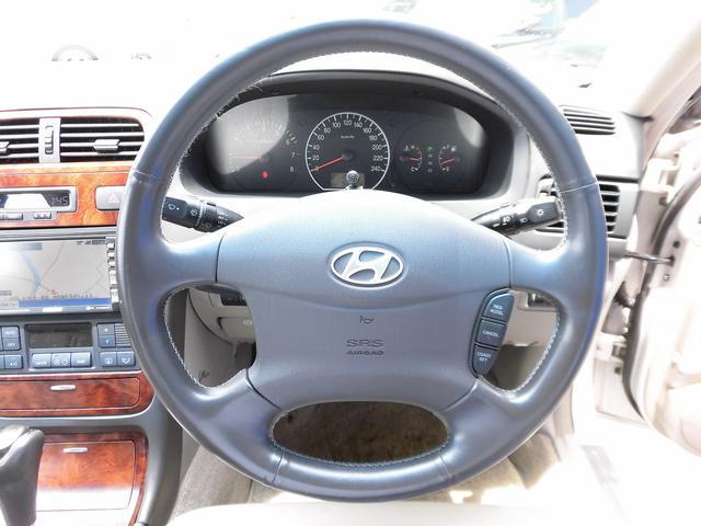 ヒュンダイ ヒュンダイ XG XG300本革シート三菱製DVDナビHIDヘッドオリジナル車