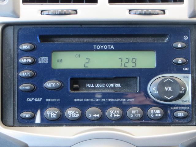 カセット/CDチューナー付きです。いい音楽でドライブを満喫して下さい。