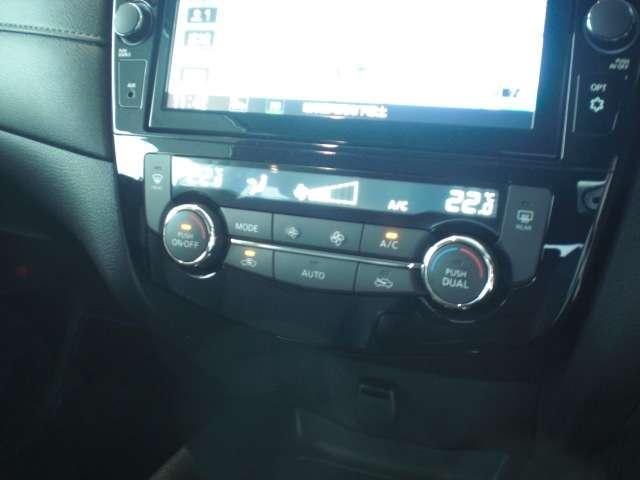 運転席と助手席それぞれにお好みの温度を設定することができる、左右独立温度調整機能付フルオートエアコンを装備しています