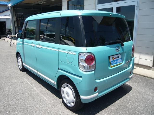 プライバシーガラス装備で夏場でも車内温度も快適に!ボディカラーは可愛くお洒落なミントグリーン色!街乗りでも映える色合いですね